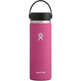 Hydro Flask Wide Mouth Flaske Med flex cap 591ml, pink